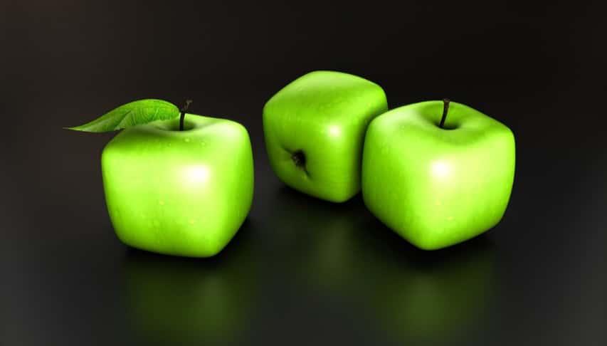 Cubik apple surreal Illustrations