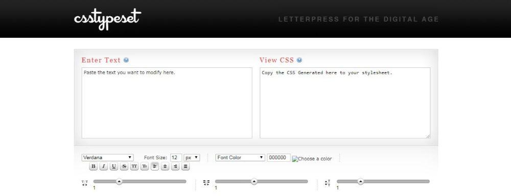 CSS Typeset