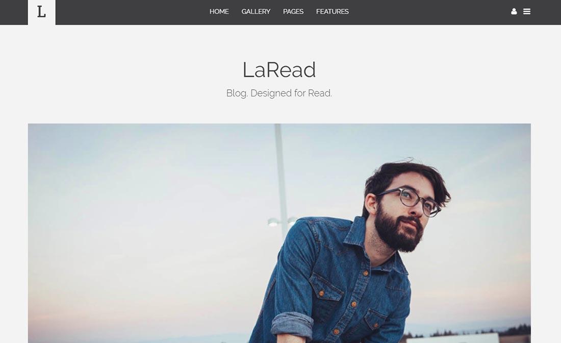 LaRead Blog Website Template