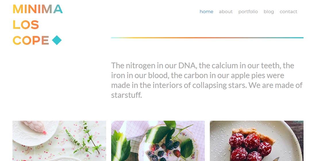 Minimaloscope Blog Website Template