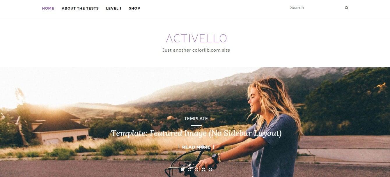 Activello Material Design WordPress Theme