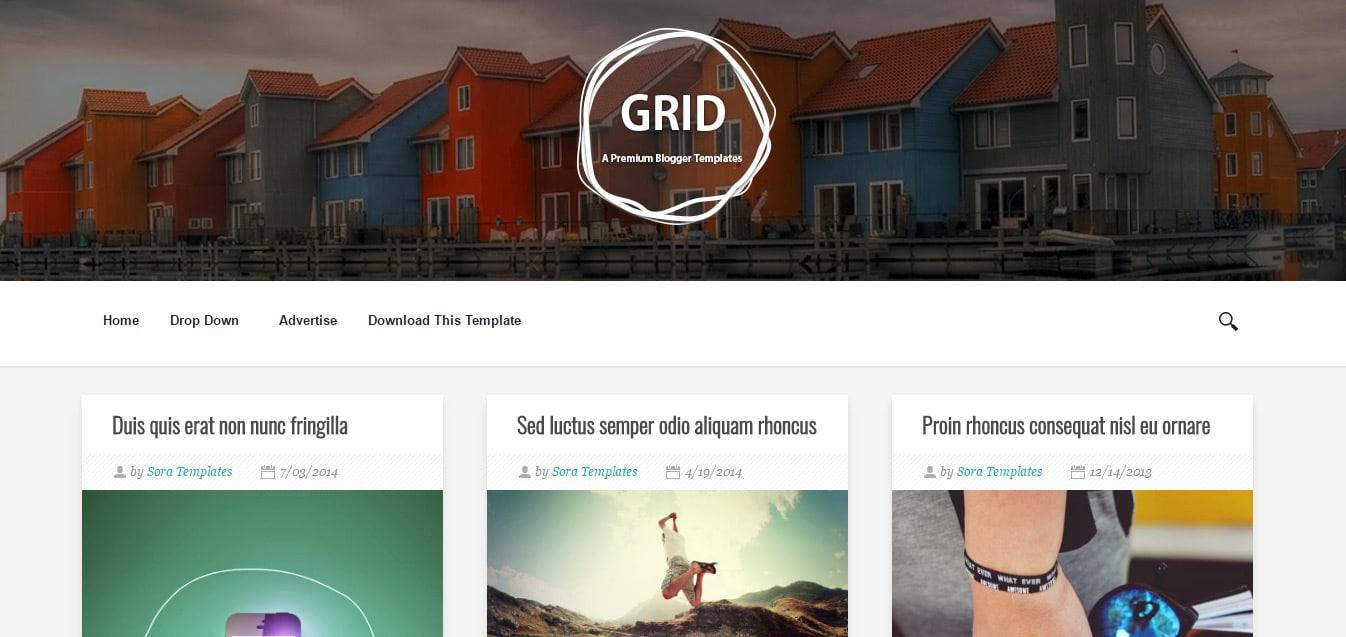 Grid Blogger Templates