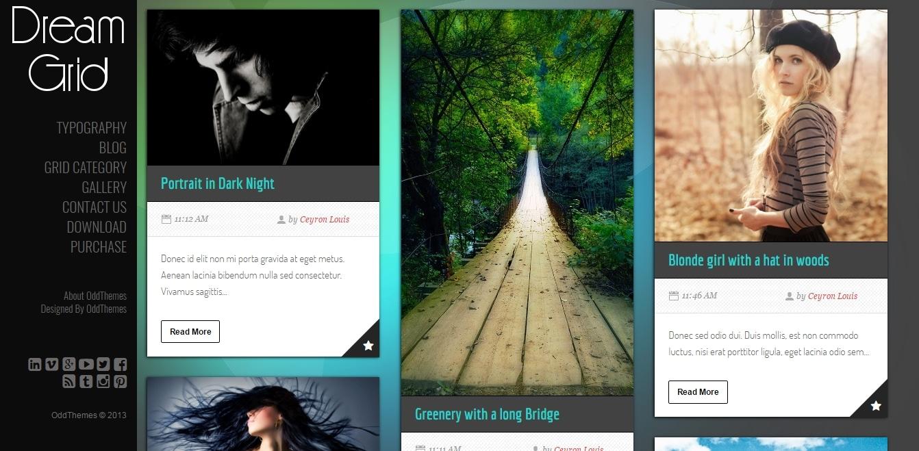 Dream Grid Blogger Template