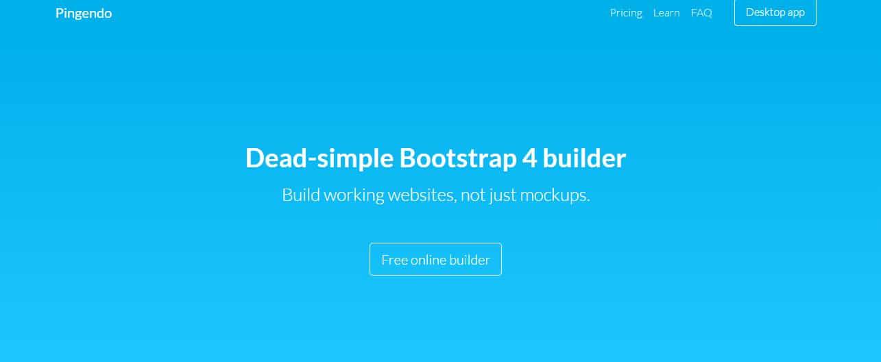 Pingendo Bootstrap 4 builder