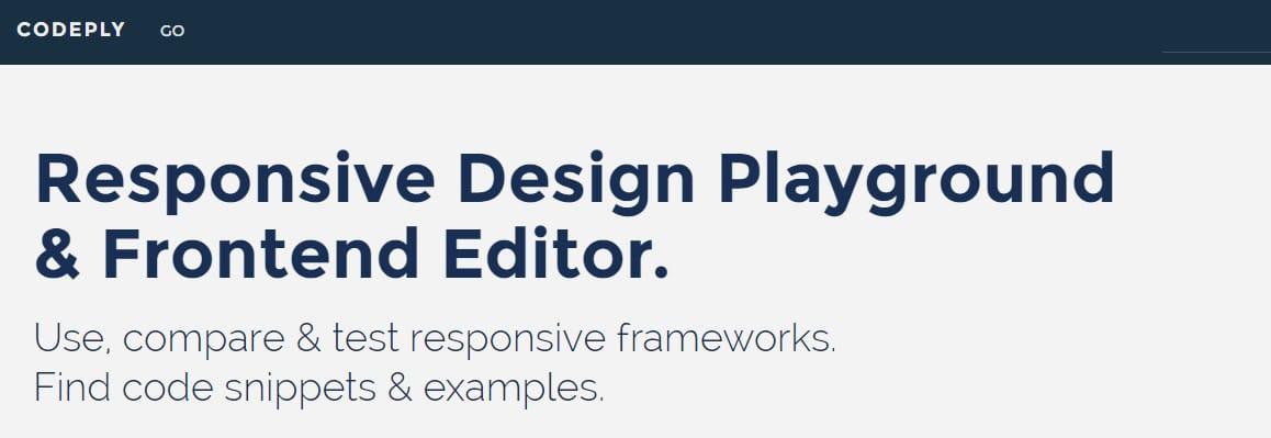 Compare responsive frameworks