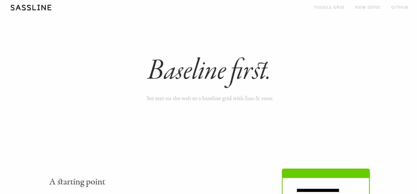Sassline SASS Mixins
