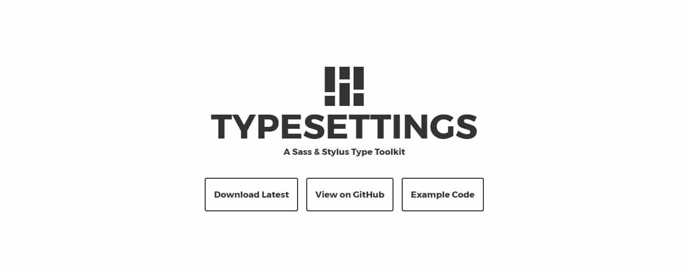 Typesettings SASS Mixins