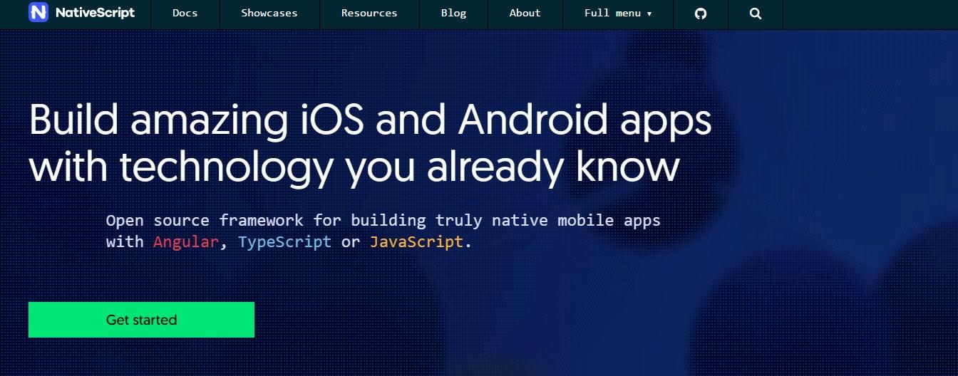 NativeScript Angular JS Tool for Web Developers