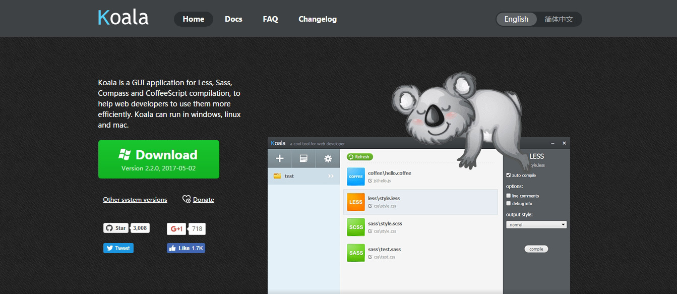 Koala GUI Less Compiler