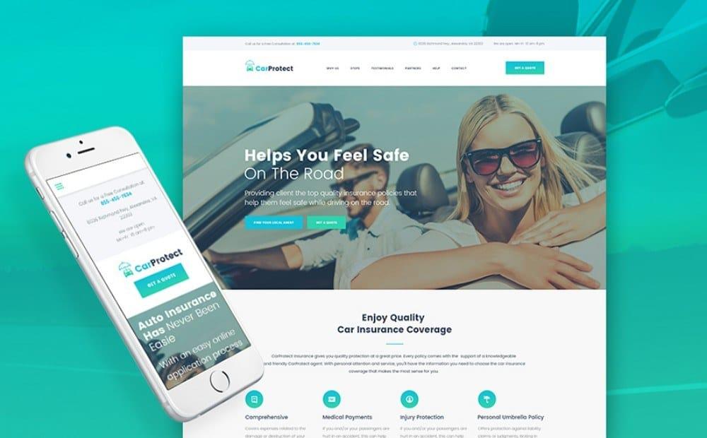 21-WordPress Theme for Car Insurance