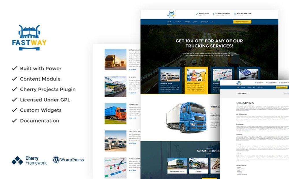 28-Responsive WordPress Theme for Transportation Company