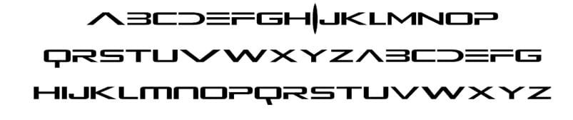 Alien Resurrection Font Wide Fonts