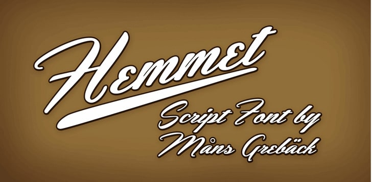 Hemmet sports Font