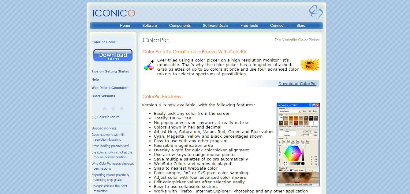 ColorPic - The Desktop ColorPicker Software