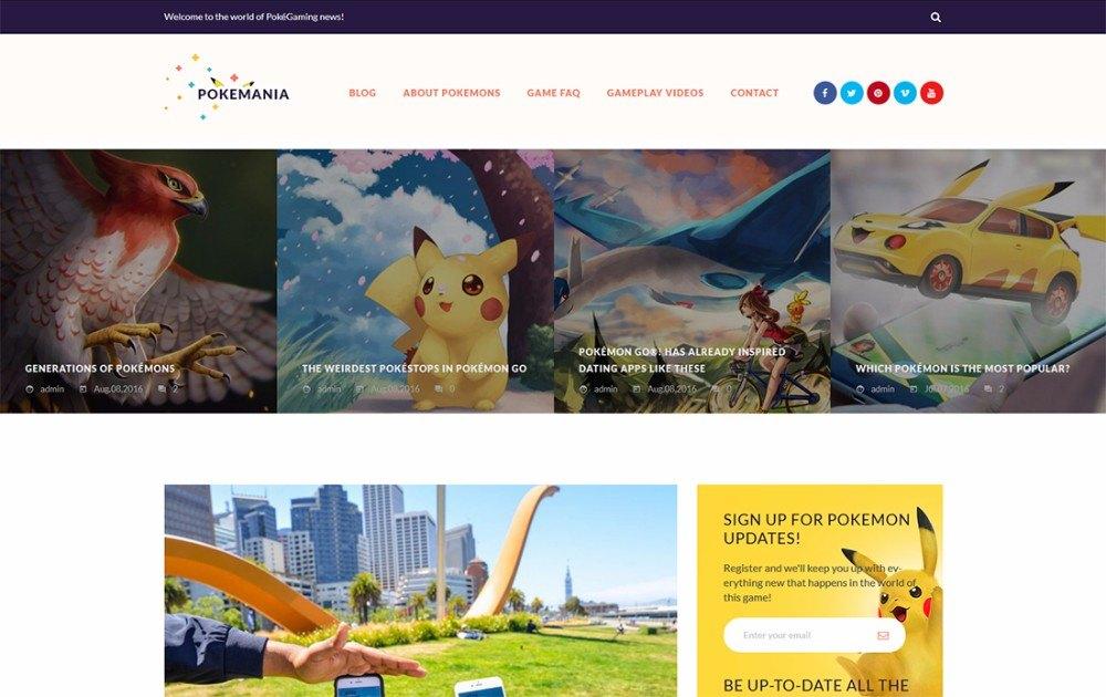 21-Pokemon Go Portal WordPress Theme