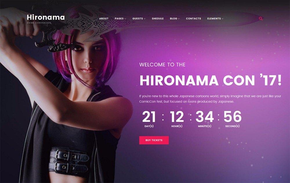 22-Anime Fans Portal WordPress Theme