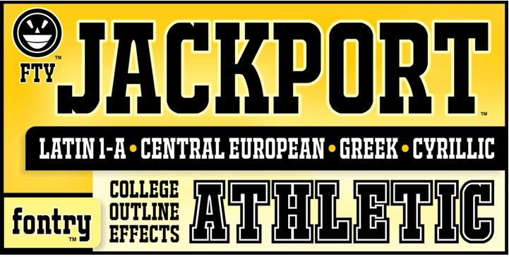 JACKPORT COLLEGE NCV sports fonts