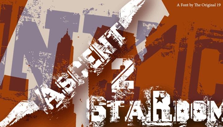Ascent 2 Stardom Font Wide Fonts