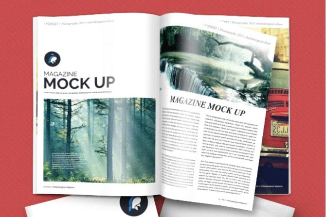 Free Mockup: Magazine + Cover