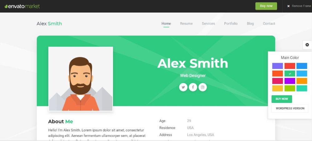 Resume/CV Resume Website Templates