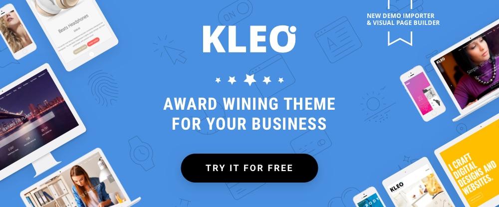 Kleo small business wordpress theme