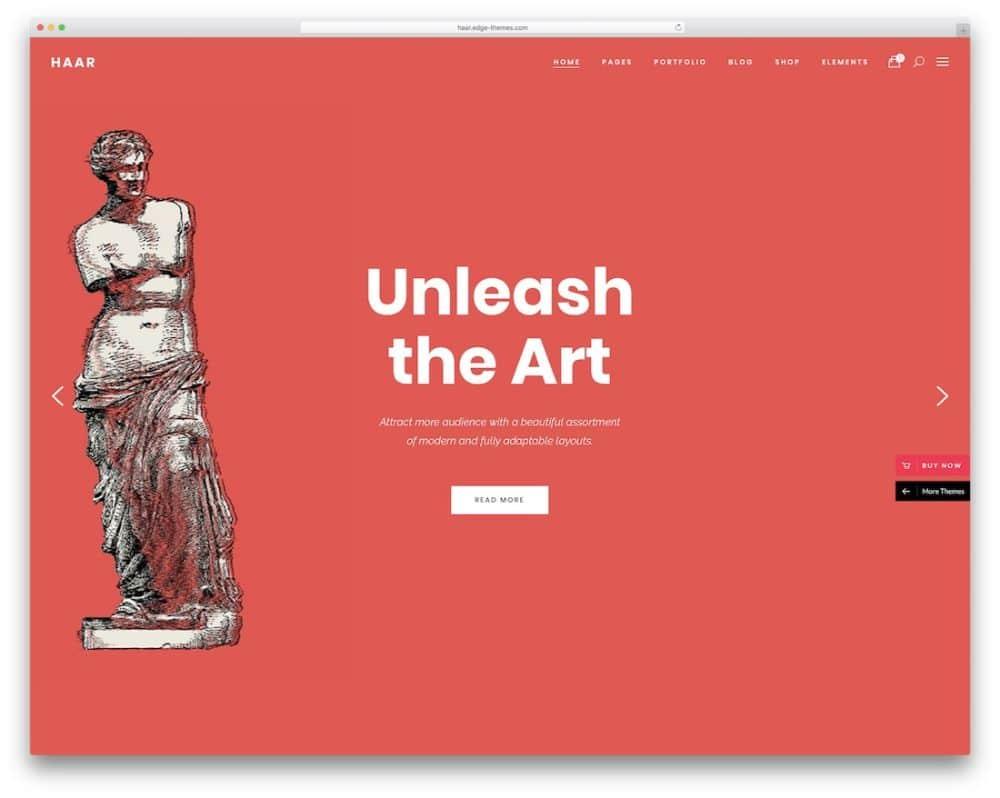 Haar- WordPress Theme for Artists Portfolio