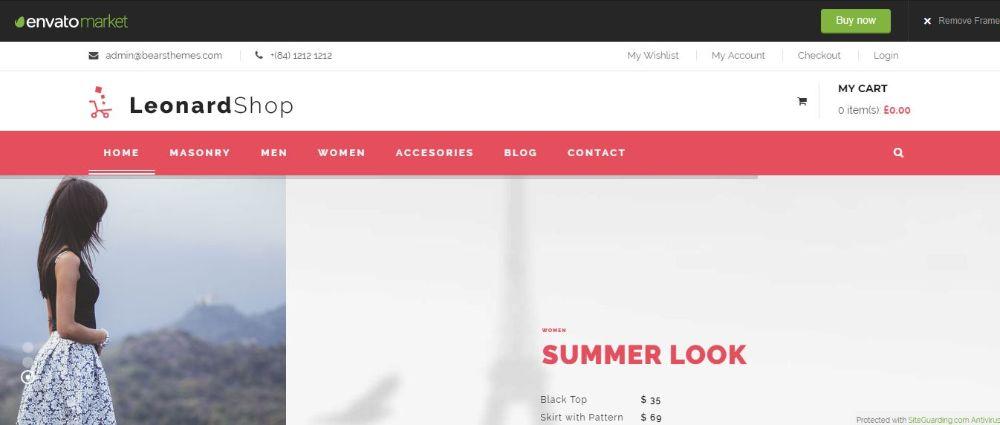 Leonard Shop WooCommerce Responsive Theme
