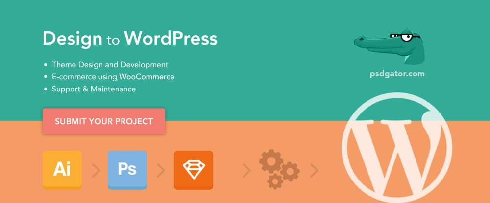 Design to WordPress - PSD Gator