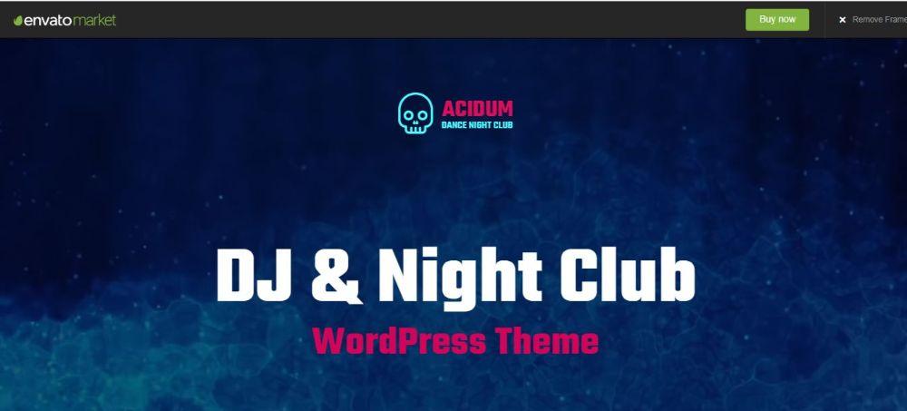 Acidium DJ WordPress Theme