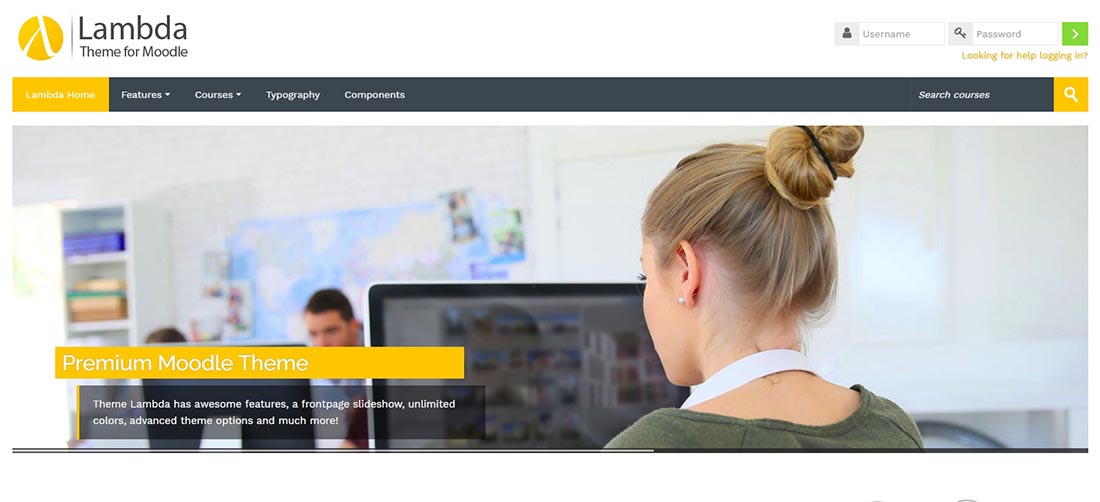 Lambda - Responsive Moodle Theme Website Design Templates