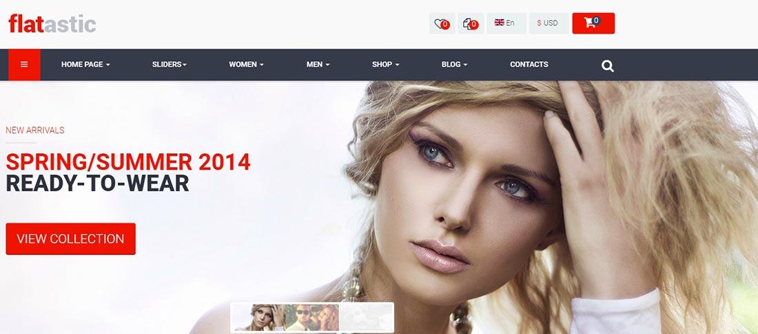 Flatastic Responsive Multipurpose VirtueMart Theme Website Design Templates