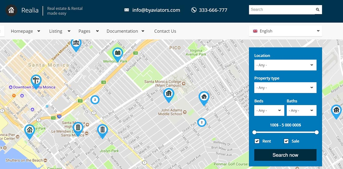 Realia - Responsive Real Estate Drupal Website Design Templates