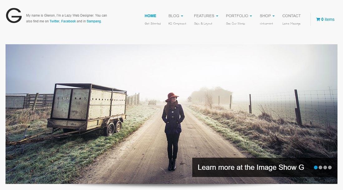 Maskeenan Theme Glenon Website Design Templates