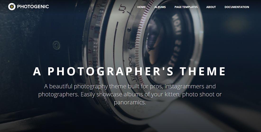 Photogenic - WordPress Photography Theme Preview - ThemeForest