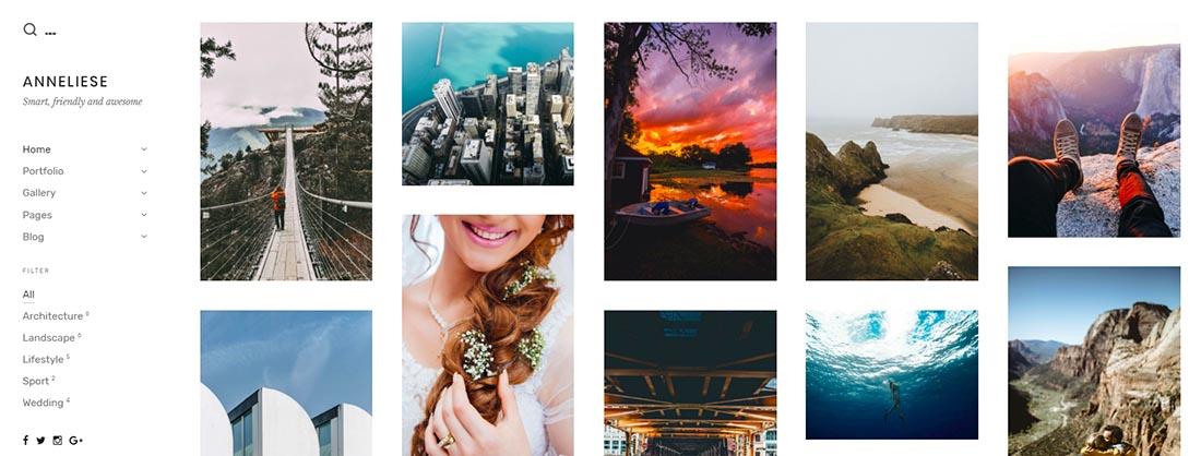 Anneliese - A Photography WordPress Theme