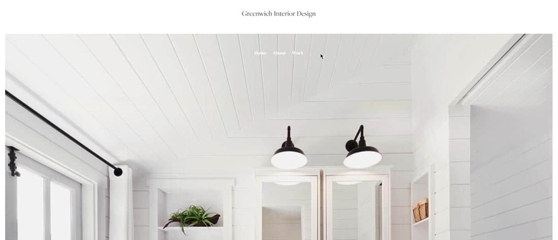 Greenwich Interior Design Top Squarespace Template