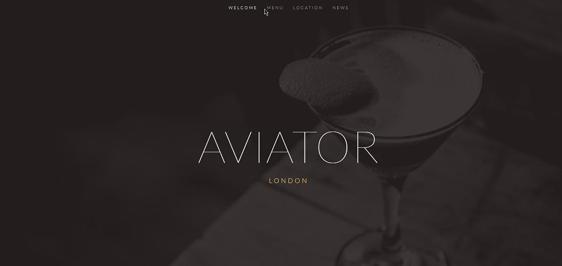 Aviator Squarespace Template