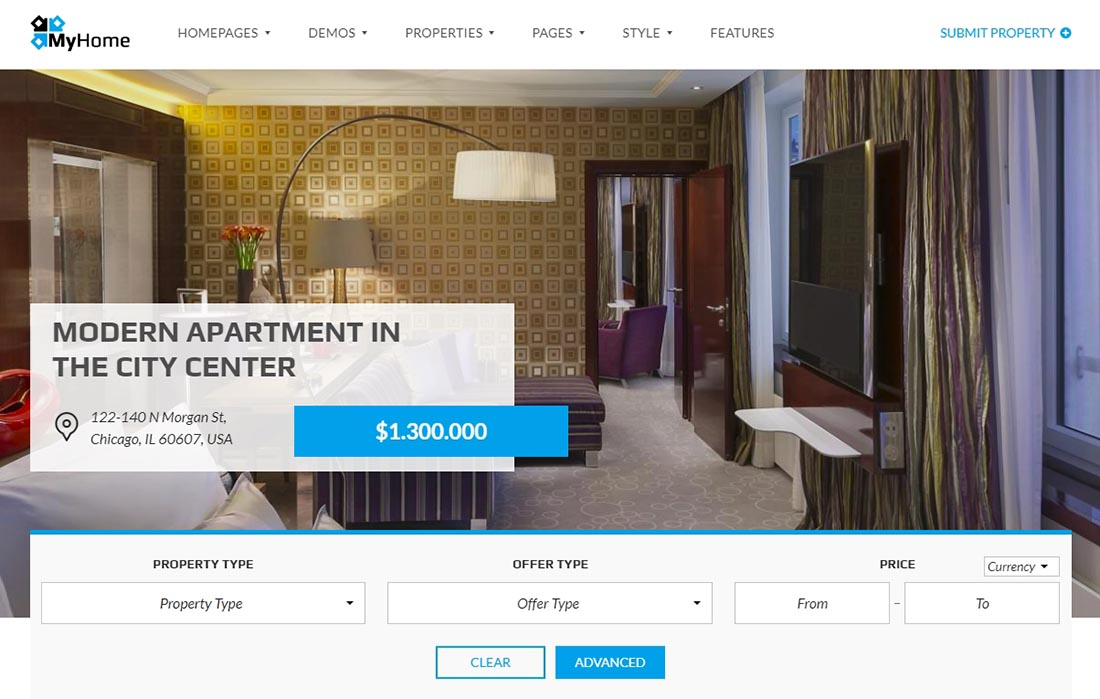 Slider Real Estate WordPress Themes