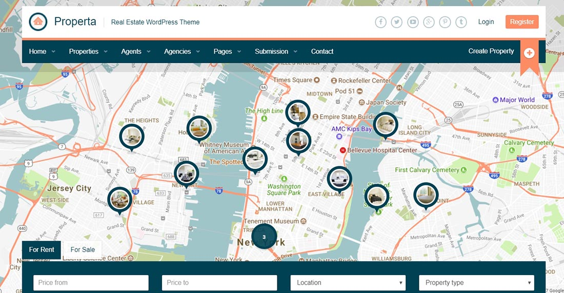 Properta - Real Estate WordPress Theme Preview - ThemeForest