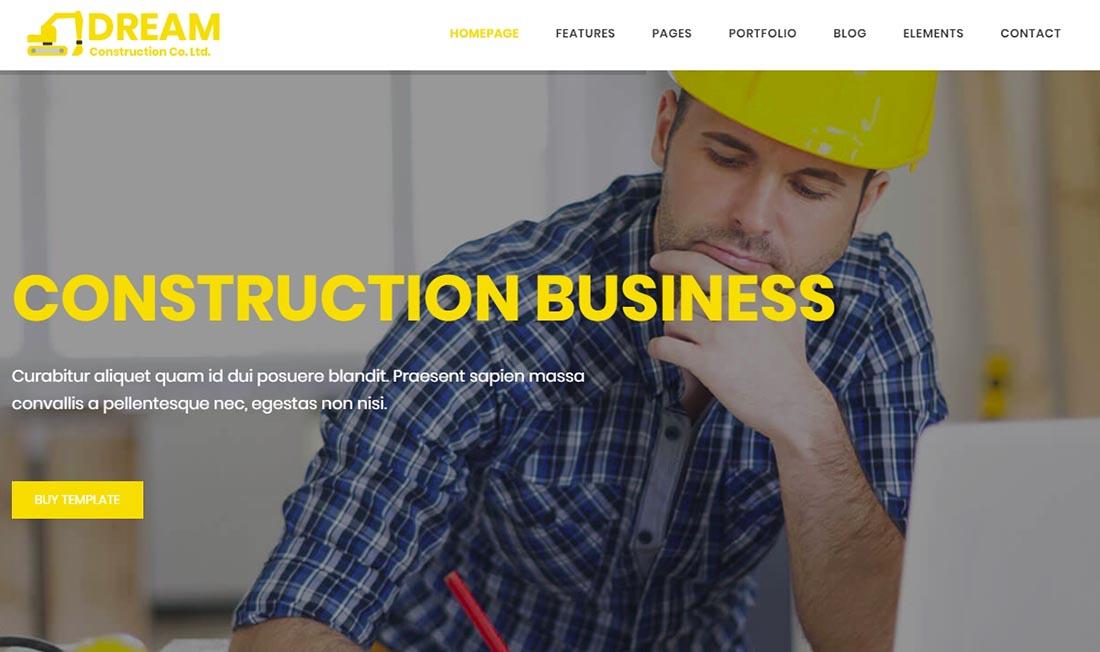 Construction Bootstrap Website Template Real Estate Website Template
