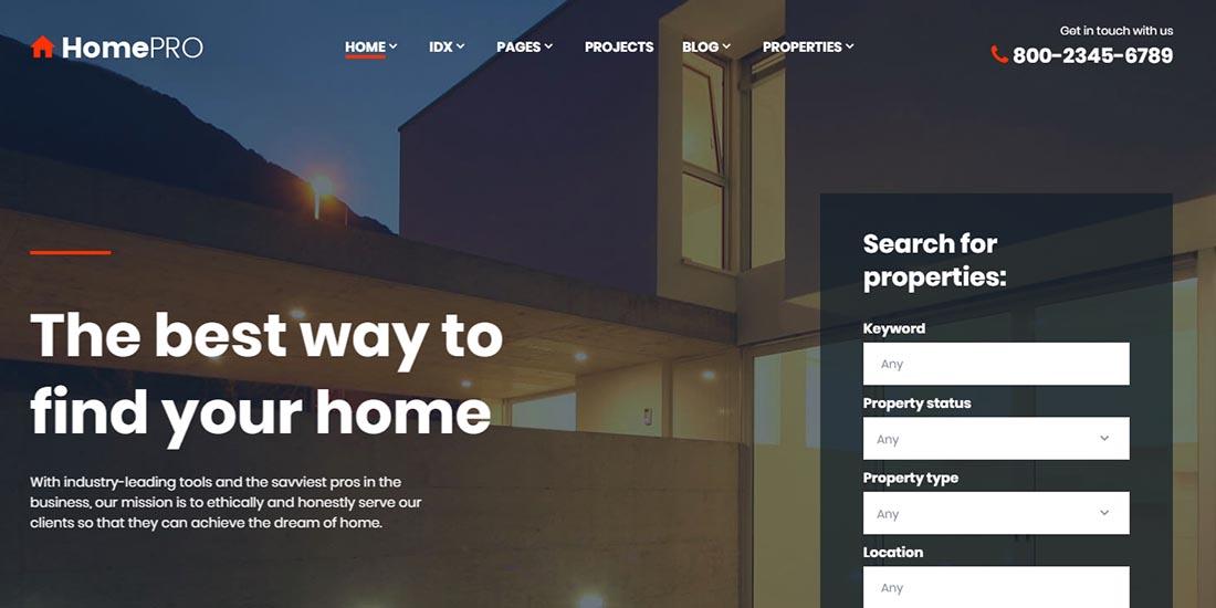 Demo for Real Estate Agency Responsive Website Template Real Estate Website Template