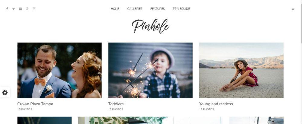 Pinhole - Minimal Photography & Gallery Theme for WordPress