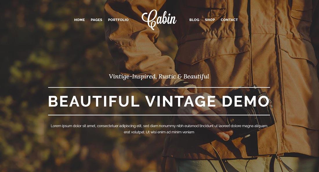 Cabin _ A Beautiful Vintage WordPress Theme