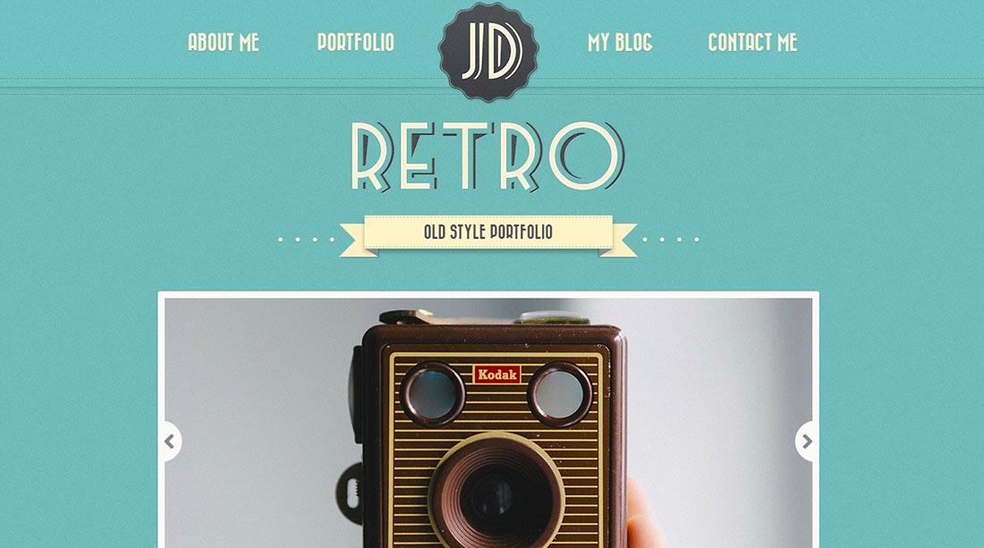 Retro Portfolio 4 Vintage WordPress Theme
