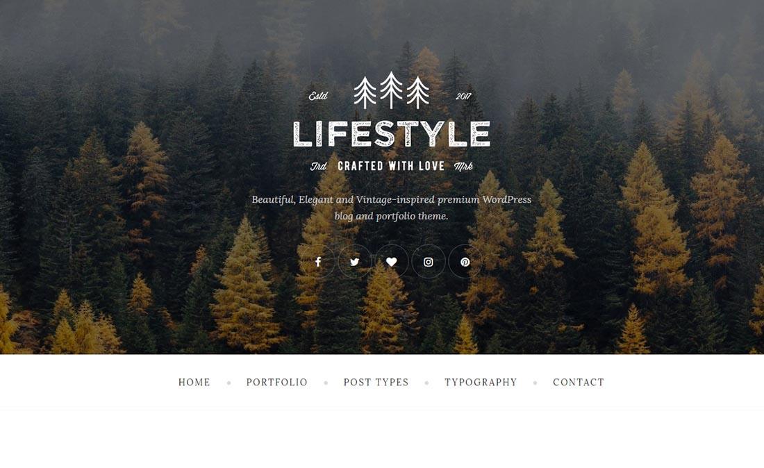The Lifestyle Vintage WordPress Theme