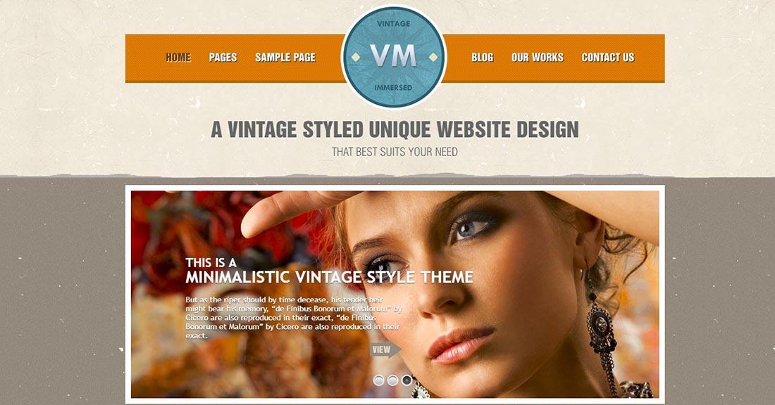 DesignThemes_ Vintage Immersed Vintage WordPress Theme