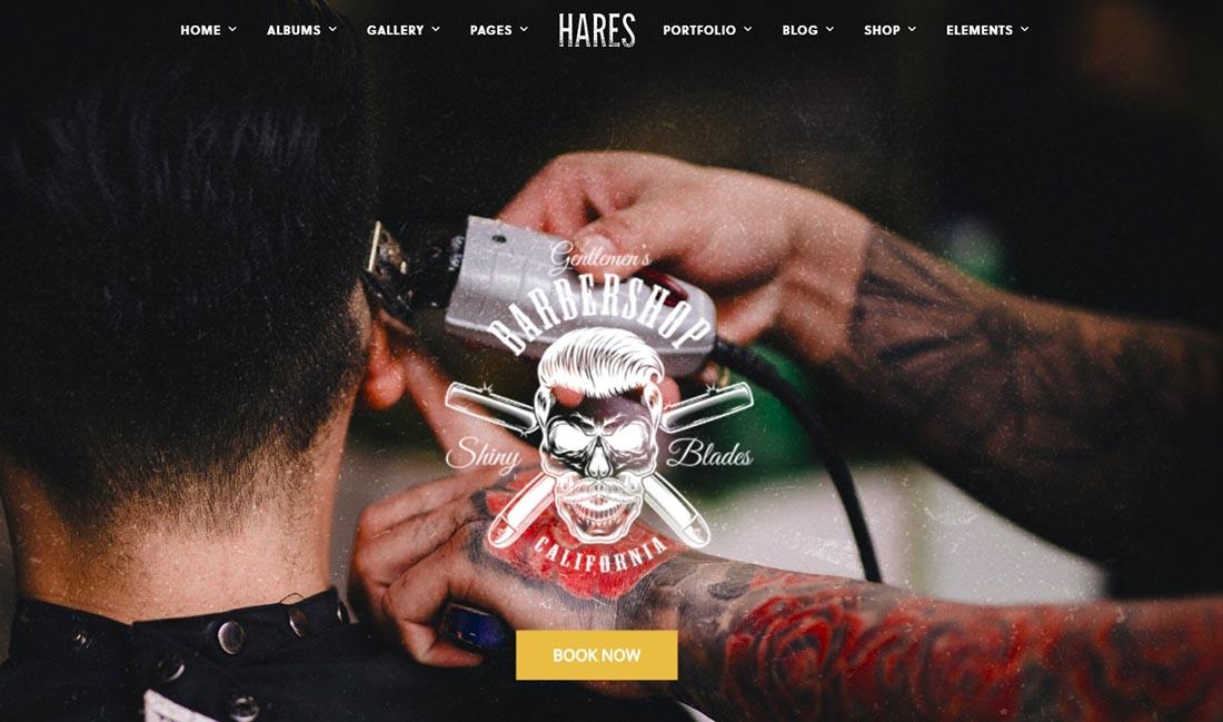 Barber Shop - Hares Vintage WordPress Theme