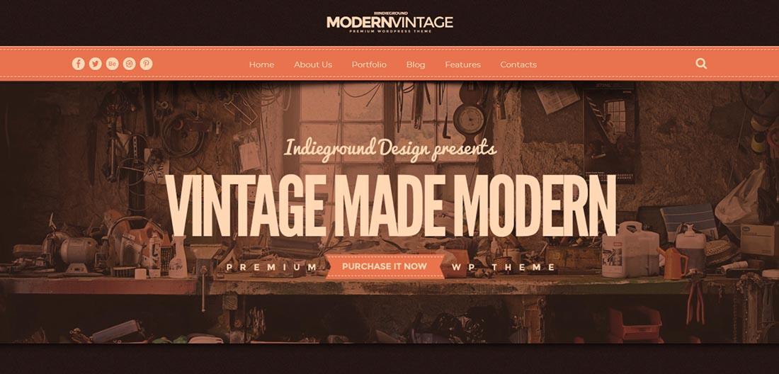 Modern Vintage Vintage WordPress Theme