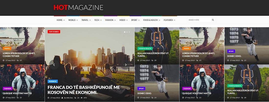 HotMagazine News Template