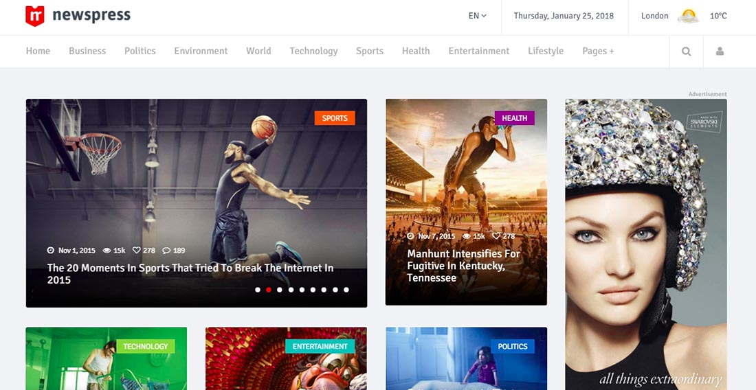 NewsPress - Bootstrap News _ Magazine Template